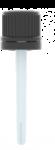 Capsule DIN 18 inviolable noire + spatule