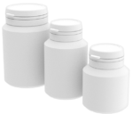 Pill jars PE 40-60-100 ml