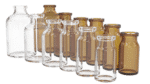 Flacon verre blanc et brun moulé bague antibiotique 20mm Glass bottle amber clear glass, vials