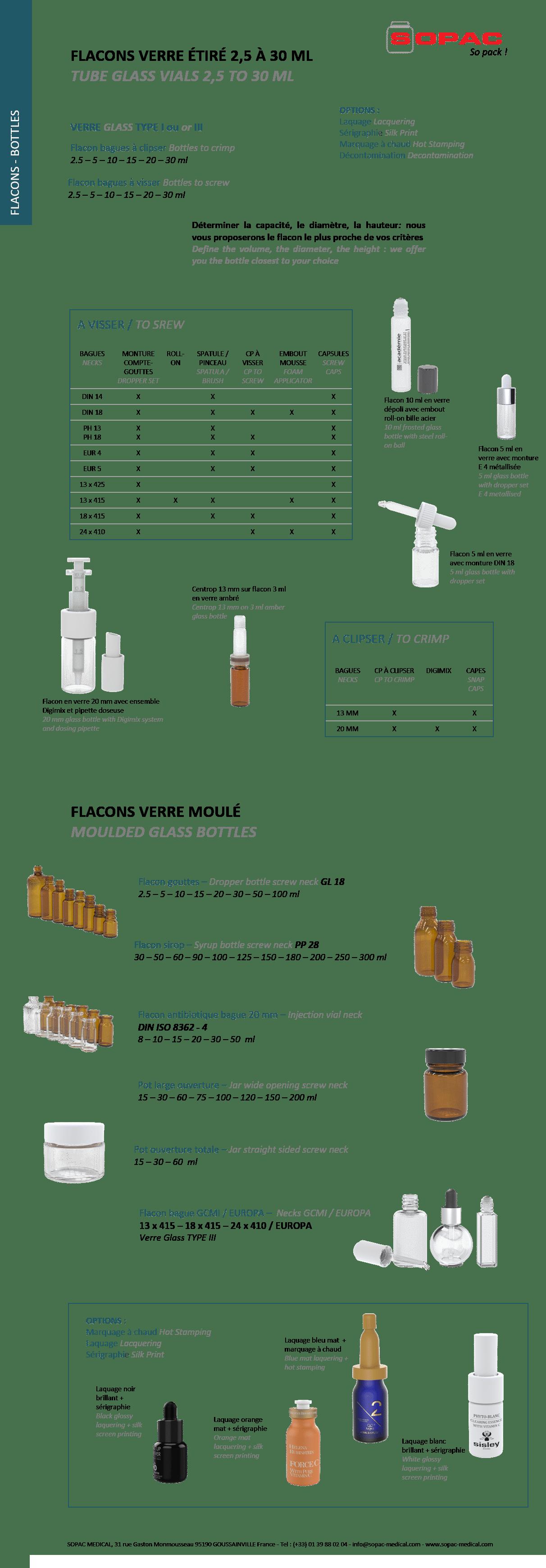 Glass bottles and vials